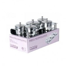 5-PIECES STAINLESS STEEL POWDER & LIQUID SET