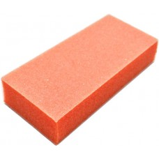 Slim Orange Half Buffer - 2 way - White Grit (100/100)